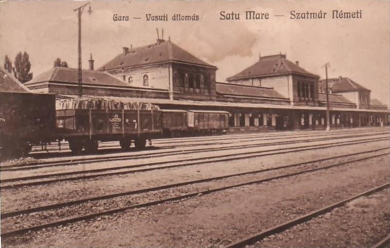 Gara din Satu Mare interbelic