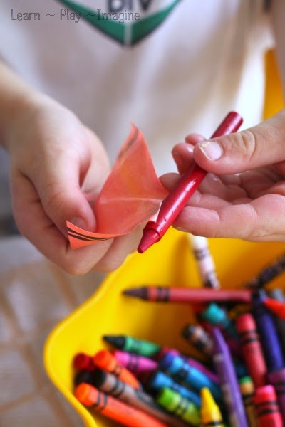How to peel crayons quickly - so easy, kids can help!