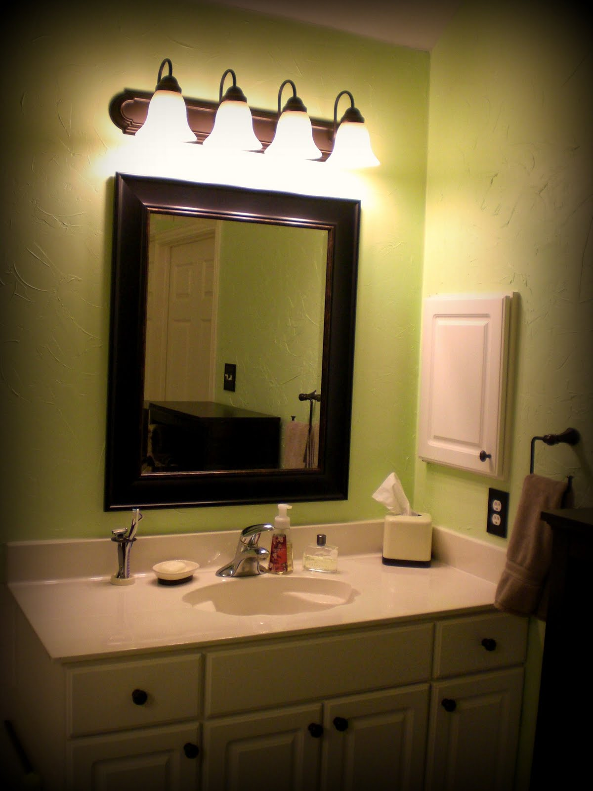 Playing house home decorating update master bathroom for Master bathroom decor