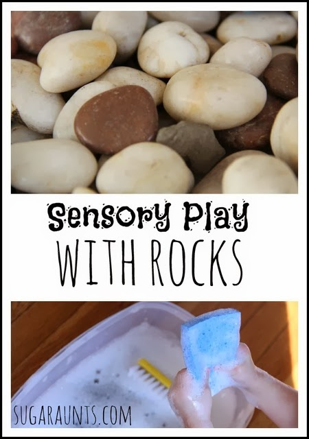 Sensory play with rocks