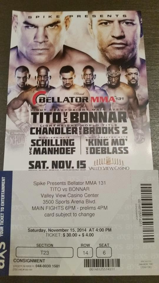 Mixed Martial Arts Event Bellator MMA in San Diego