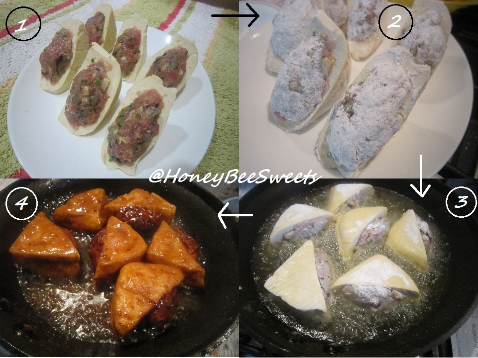 ... Bee Sweets: Stuffed Golden Purses,金钱袋 (Braised Stuffed Tofu