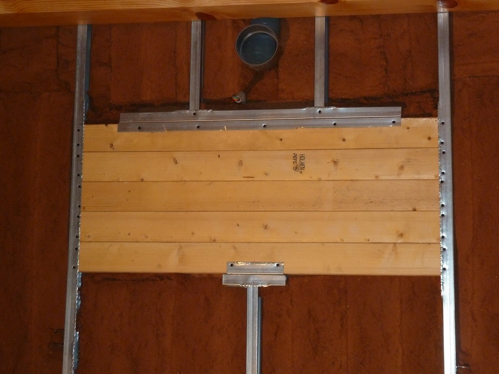 La maison de meltemetpetau suite et fin de l 39 isolation du rez de chauss - Fixer placo sur bois ...