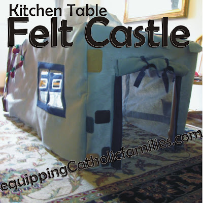 Kitchen Table Felt Castle