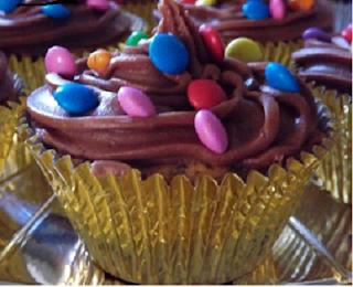 Cupcake de chocolate tradicional
