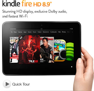 Kindle Fire Tablet 8.9-Inch  HD Display, Dolby Audio, Dual-Band Dual-Antenna Wi-Fi, 16GB or 32GB