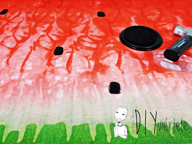 DIY-tintes iberia-teñir-rojo-verde-verano-fruta-sandía-estampado-melón-watermelon-falda-pepefalda-newlook-99