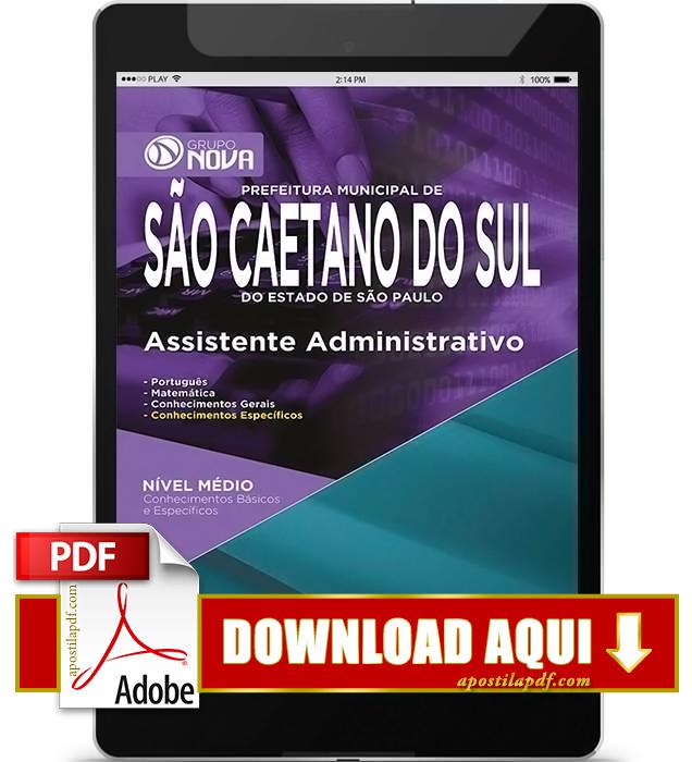 Apostila Prefeitura de São Caetano do Sul 2015 Assistente Administrativo PDF Download