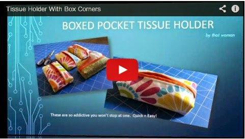 Boxed Corner Tissue Holder