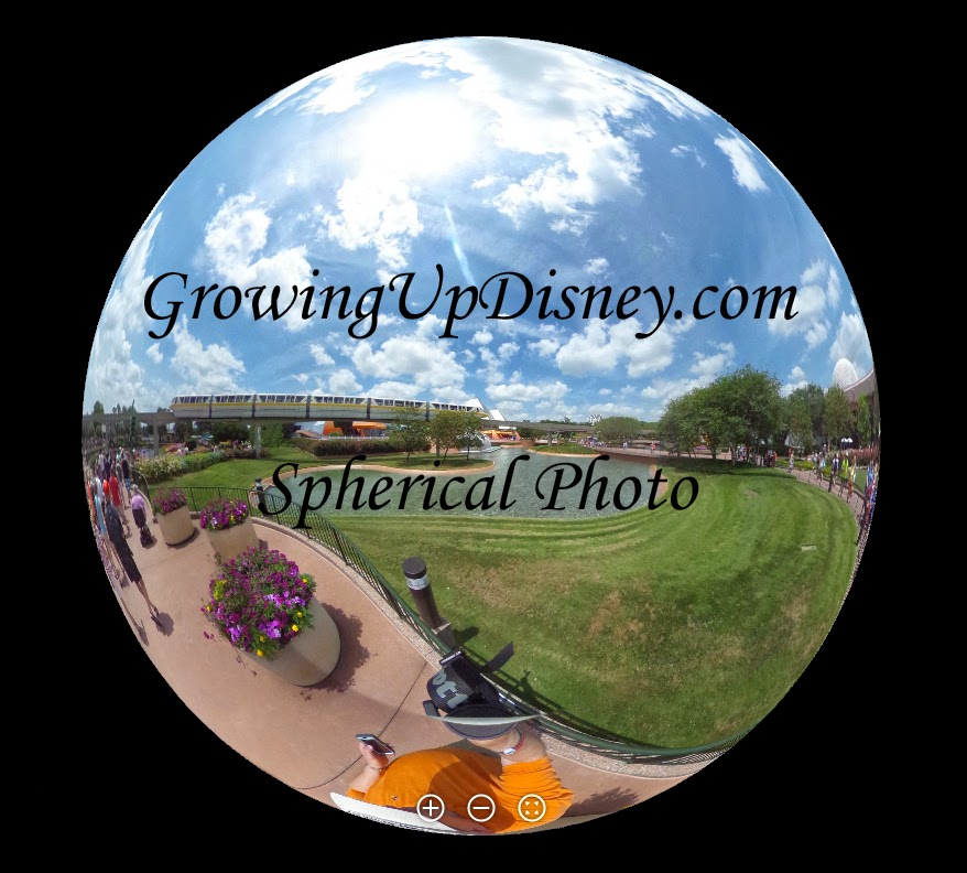 EPCOT Monorail Spherical Theta360