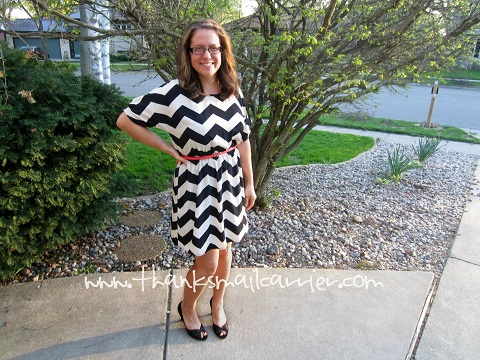 spring Chevron dress