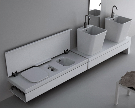Fresh Decor Clean White Compact Bathroom Designs Ideas By Hatria