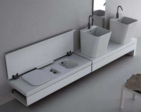 Fresh Decor Clean White Compact Bathroom Designs Ideas By