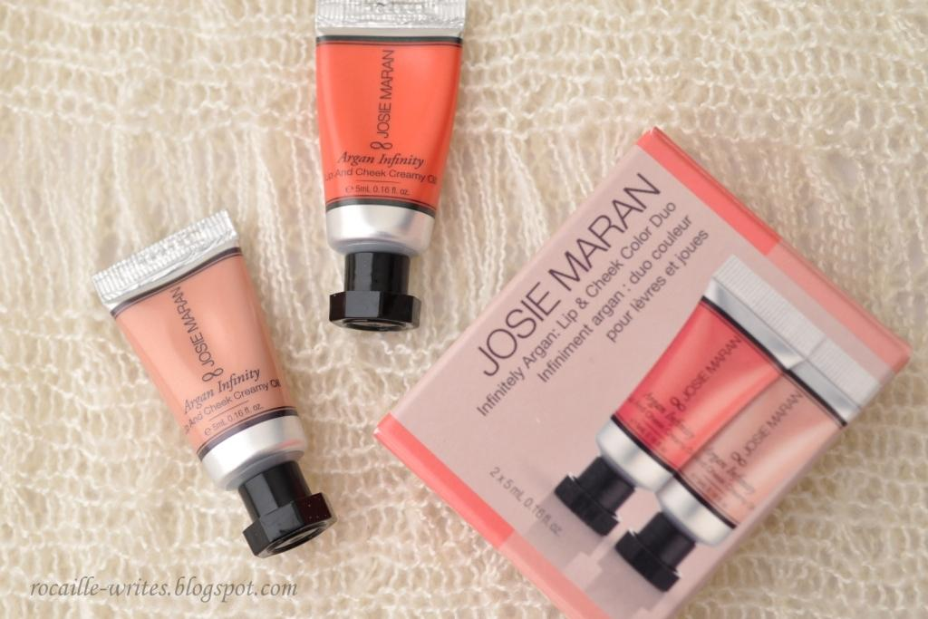 "Lip & Cheek... Oil"" Josie Maran Argan Infinity Cream Color Duo"