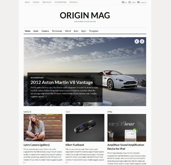 OriginMag Responsive WordPress Theme