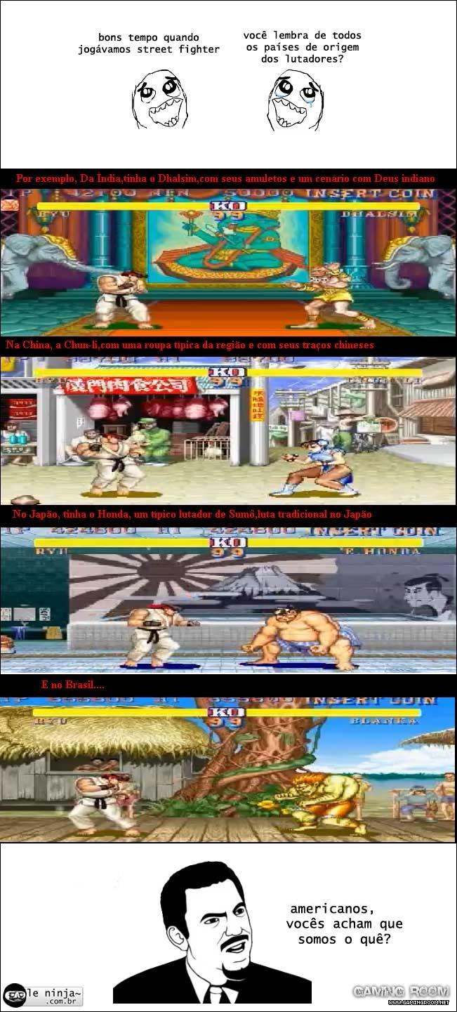 Conhecendo o Mundo Via Street Fighter 2