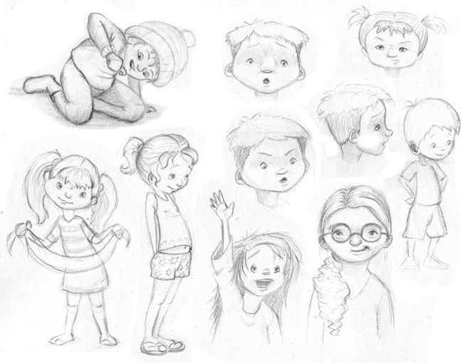 lately i have been spending some time in my sketchbook drawing kids just for practice and just for fun here are a few enjoy - Sketches For Kids