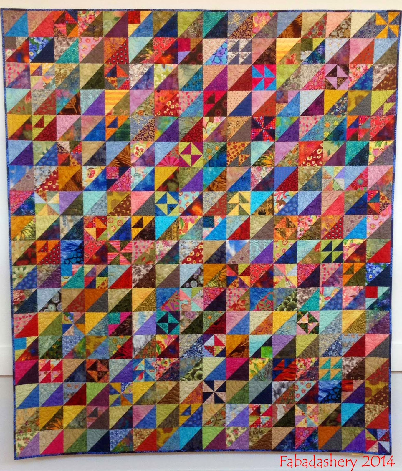 'Triangle Directions' Quilt by Katherine Guerrier