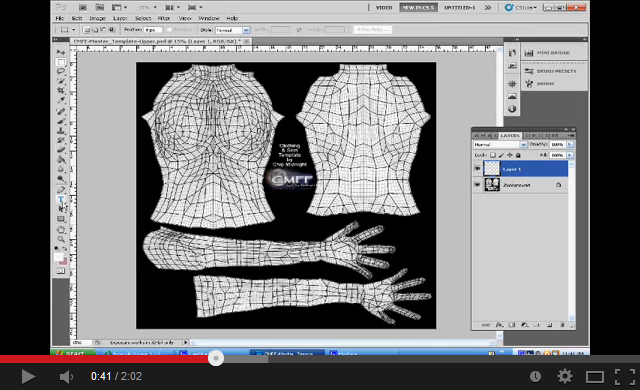 second life templates for gimp - how to make a second life tattoo metaverse tutorials