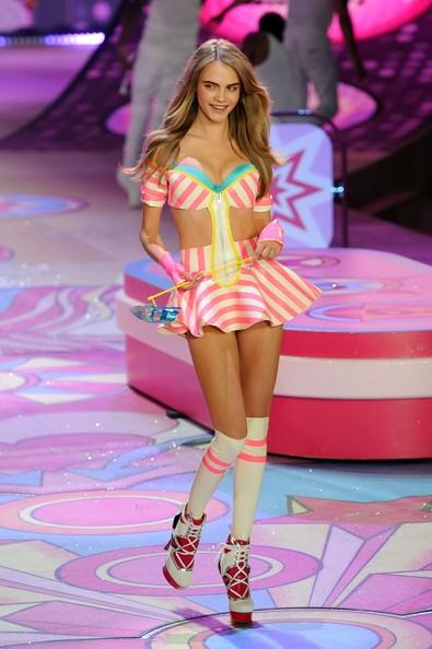 Cara Delevingne At Victoria's Secret Fashion Show 2012