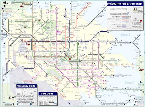 Mapa dos trens de Melbourne