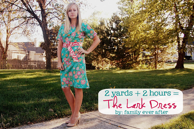 2 Yard Dress Tutorial from Family Ever After!! Little time and little material is all you need to make this cute dress!