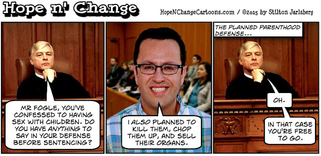 obama, obama jokes, political, humor, cartoon, conservative, hope n' change, hope and change, stilton jarlsberg, subway, jared fogle, planned parenthood