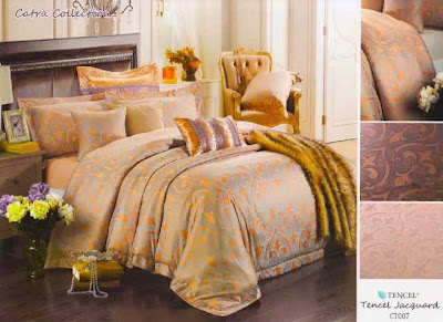 Sprei-Tencel-Motif-Ukir-Brown