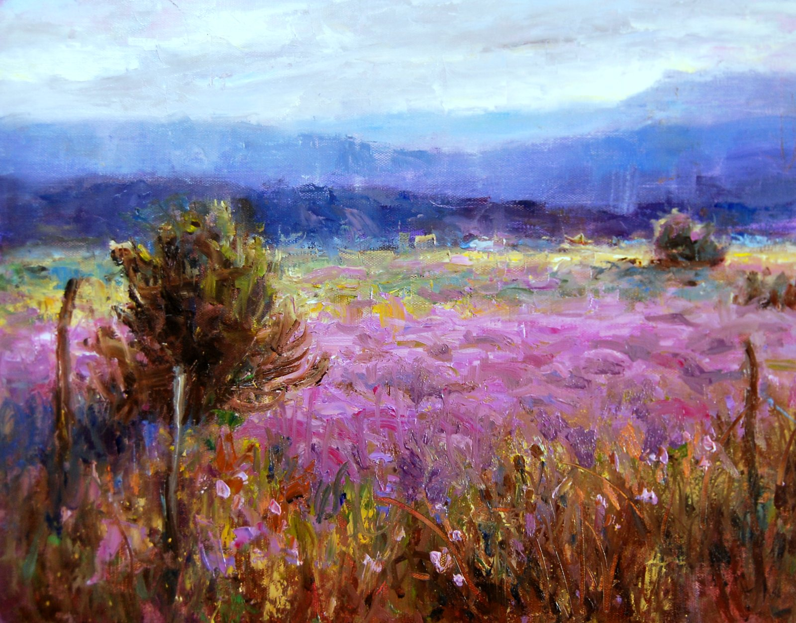 art talk julie ford oliver mountain meadow flowers
