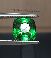 3,24ct NATURAL TSAVORITE GARNET