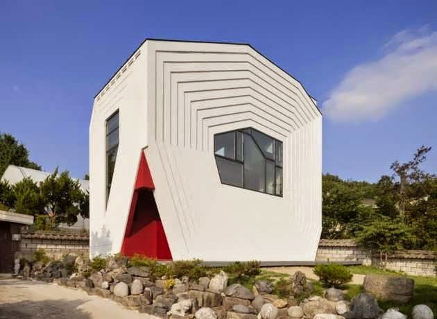 TOP 7 UNIQUE HOUSE DESIGN: STYLISTICALLY MINIMALIST, GEOMETRICALLY ELABORATE HOUSE DESIGN IN DAEJEON, SOUTH KOREA
