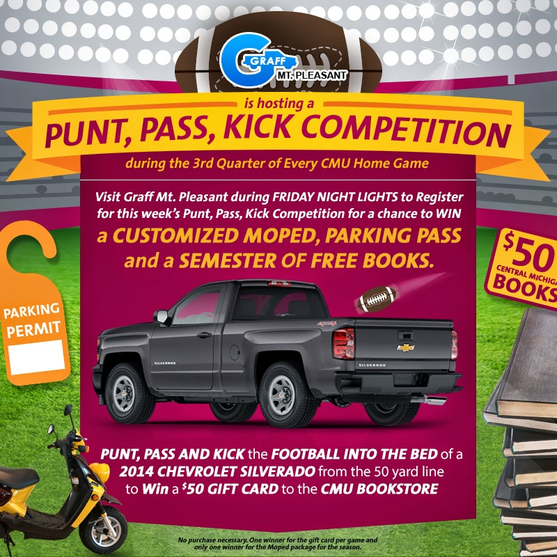 Graff's Punt, Pass, Kick Competition at CMU Home Games