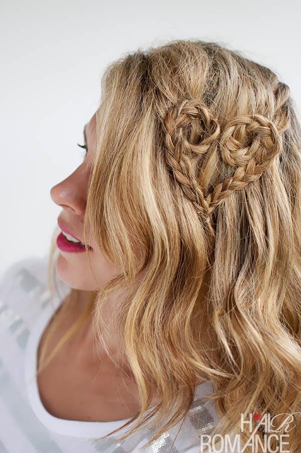 Peinado Romantico Para San Valentin, Diseño Corazon