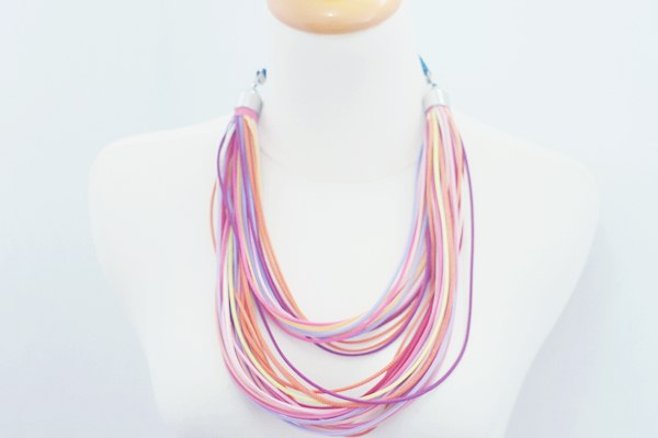 Colorful Zipper Necklace I