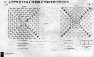 RECEITAS DE QUADRADOS DE CROCHÊ PARA CUSTOMIZAR CALÇAS