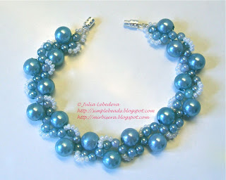 Bracelet in marine blue colors