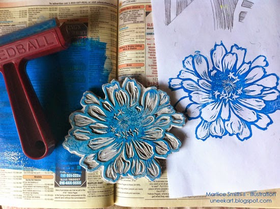 Martice Smith II's large flower stamp, tutorial