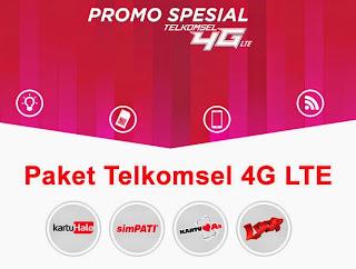 4G LTE Telkomsel, kartuhalo, simpati, as, loop, paket telkomsel 4G LTE,