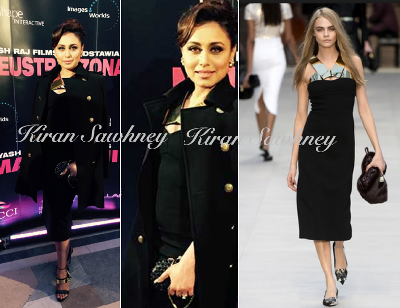 Rani Mukherji in Poland in Burberry