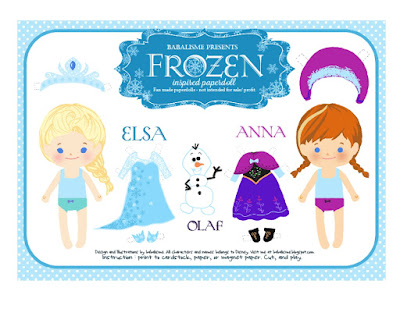 Disney Frozen Dress-Up Paper Doll