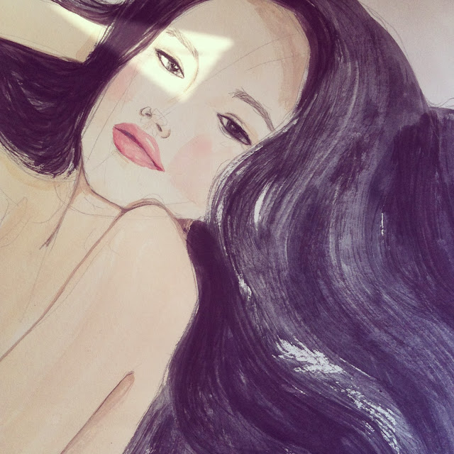 Kitty N. Wong / Shu Qi hair illustration
