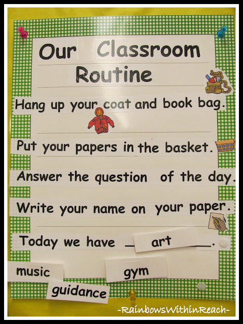 photo of: Routines in Kindergarten to Start the Day (RoundUP via RainbowsWithinReach)