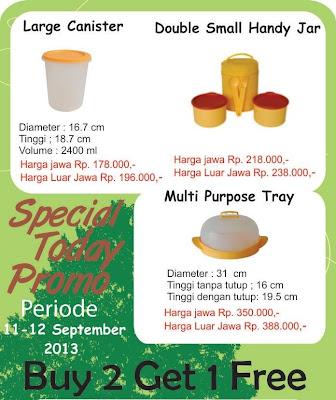 Promo Harian Tulipware Tanggal 11-12 Sept 2013