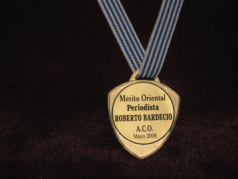 """Premio """"Mérito Oriental"""" - Mayo 2008"""