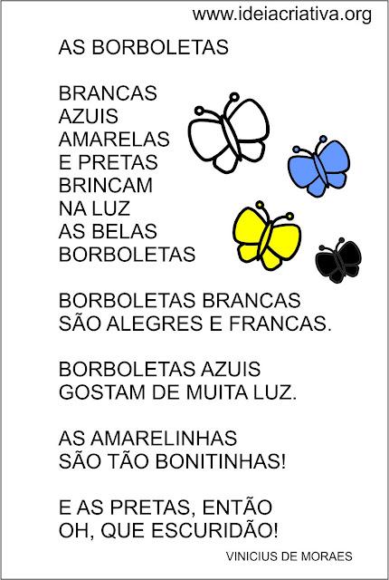 POESIA VINICIUS DE MORAES AS BORBOLETAS