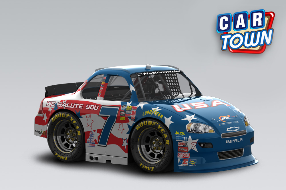 New To Car Town One Of Our Favorite Patriotic Paint Schemes