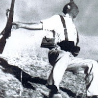 """Loyalist Militiaman at the Moment of Death, Cerro Muriano,"""