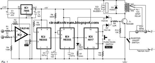 Wiring Schematic diagram: Inverter Overload Protector on transformers overload, power overload, plug overload,