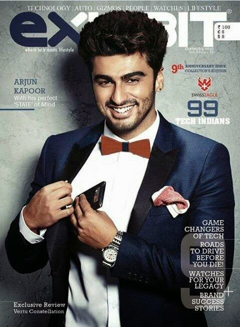 Arjun Kapoors on cover page of Exhibit magazine