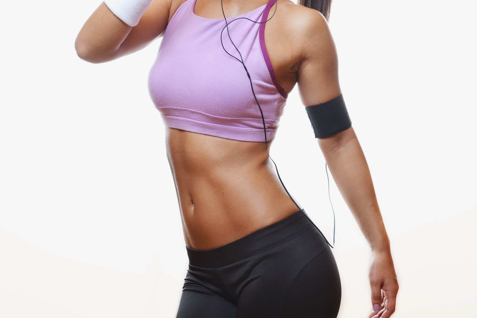gym girl with ipod
